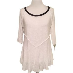 Intimately Free People White Distressed Top SP